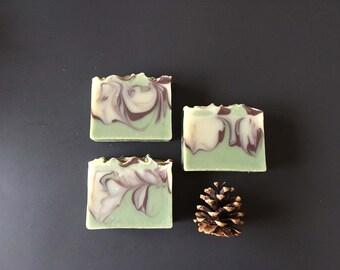 Mystical Woods Artisan Soap - Handmade Soap - Soap - Cold Process Soap - Vegan Soap - Gift for Him - Gift for Her - Sandalwood - Bergamot