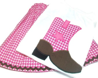 Toddler Girl Outfit, Cowgirl Boot Outfit, Girls Skirt Set,  Girls Western Wear, Cowgirl Birthday Party, Toddler Girl Fashion,