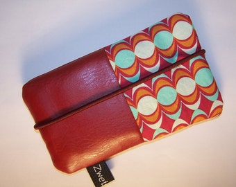 Cell phone case cell phone pockets faux leather