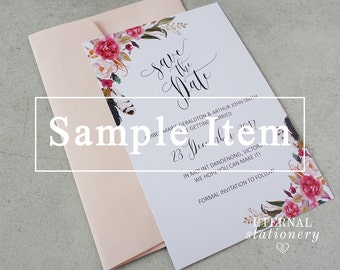 "Floral watercolour Save the Date SAMPLE - ""Abella"""