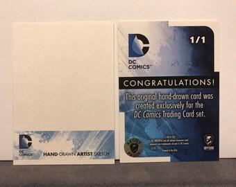 Cryptozoic DC Comics New 52 Sketch Card Commissions