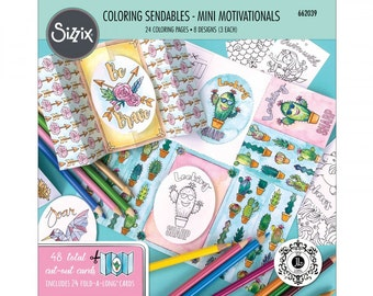 New! Sizzix Coloring Sendables - Mini Motivationals by Jen Long