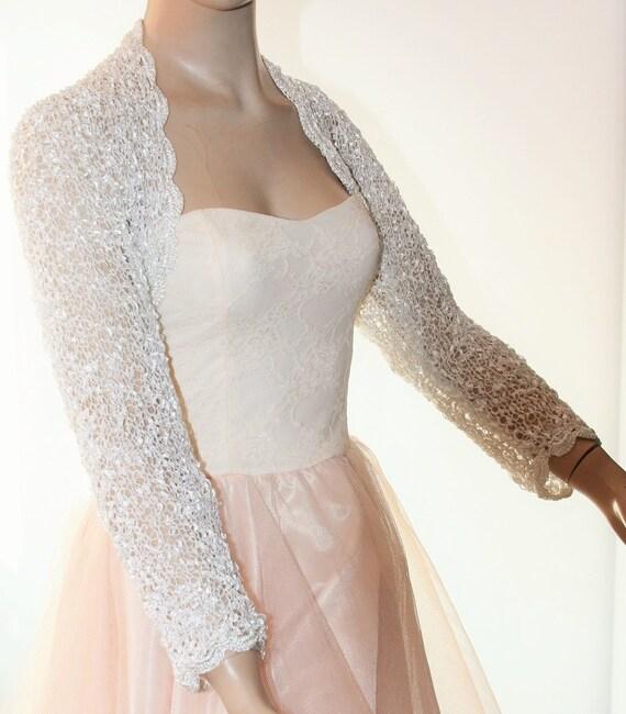 Wedding Bridal Bolero Shrug Lace Crochet Knit Shrug Boleros