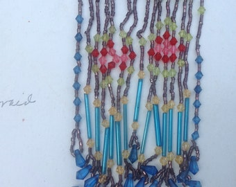 Vintage necklace pouch with beads