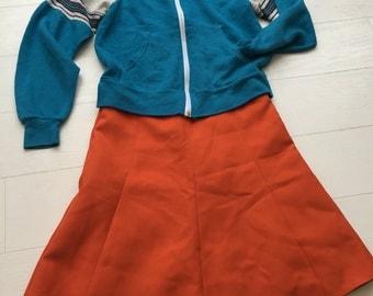 Vintage 70's orange skirt
