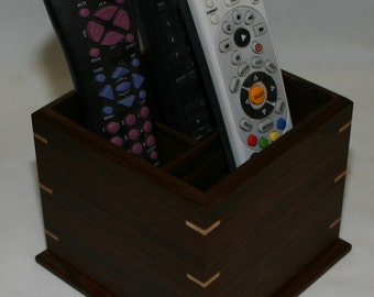 Remote Control Caddy for your TV, sound system, etc. -  walnut #204