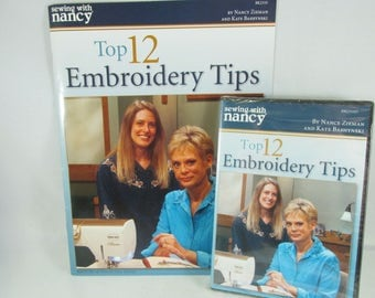 Machine Embroidery Instruction Booklet and DVD