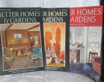 Vintage Better Homes and Gardens Magazine Covers, Artist Seymour Snyder, 1932, 1933, 1934