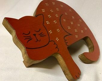 Vintage Window Sill Cat - Handmade