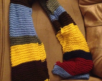 Multicolor Dr. Who-style scarf