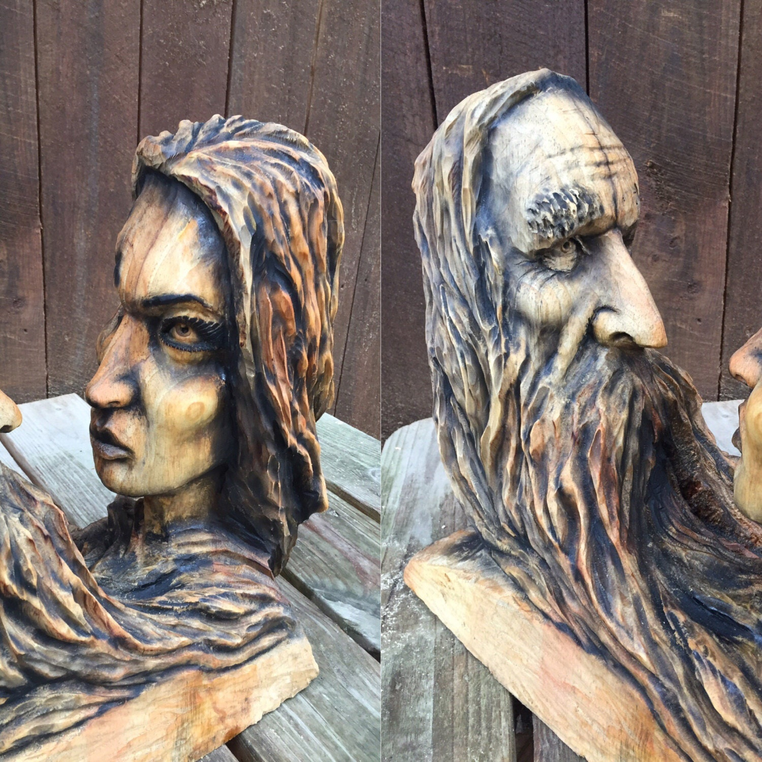 Spring sale hand carved wood sculpture anniversary