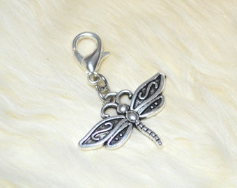 Dragonfly Bug Charm, Spirit Animal Totem Insect Charm, Purse Accessories, Planner Charm for Midori Fauxdori Travelers Notebook
