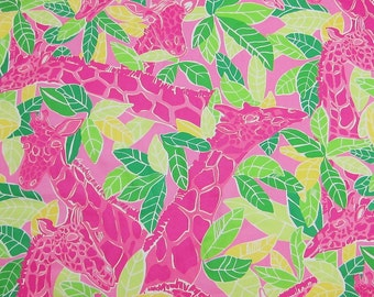"18"" x 18"" Lilly Pulitzer Remnants Cotton Fabric Chilean Avenue"