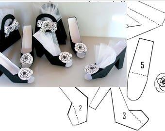 diy shoes favor  high heel paper download