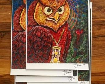 """LE 40 Guardian Owl Prints! 18""""x11"""" on High quality paper. Only 40 will be produced! All hand signed and numbered!"""