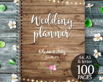 Printable wedding planner, Instant download wedding planner, Rustic wedding planner, Wedding binder, Wedding organiser, Wedding checklist