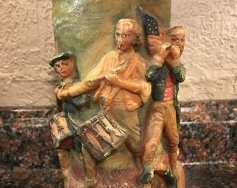 Vintage Gunter Kerzen Walldurn Baden Hand Carved German Eternal Candle