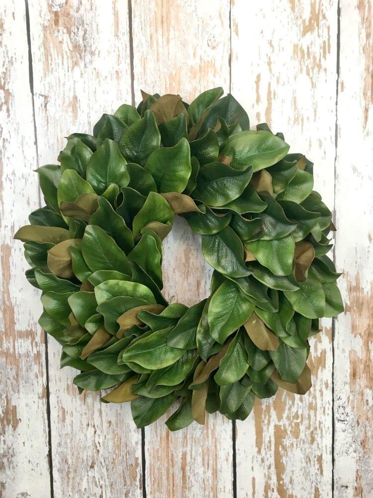 Magnolia Leaf Wreath Faux Magnolia Wreaths For Front Door