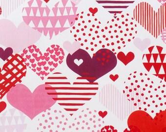 Alexander Henry - Hearts a Flutter - #8503B- Cherry Tonal