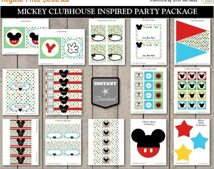 SALE INSTANT DOWNLOAD Mouse Clubhouse Inspired Editable Printable Birthday Party Package / Printable Diy / Clubhouse Collection / Item #1600