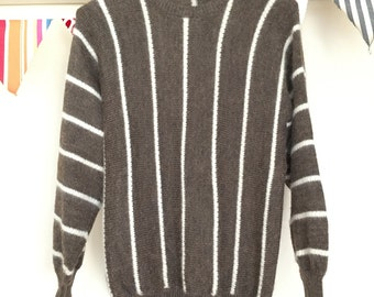 Vintage Brown Striped Sweater