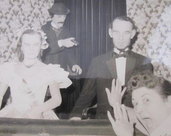 Witness To The Lincoln Assassination - Funny  1950's Wax Museum Snapshot Photo - Free Shipping