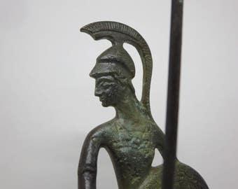 BRONZE STATUE,  Art bronze, Goddess Athena, Mythology Greek, Warrior, Roman, Bronze replica, Home decor, Miniature figurines, Father's day