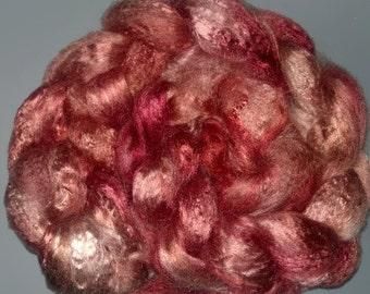 Pearl Infused Rose fiber- Eco Friendly- Nano Pearl Dust - Cinnamon
