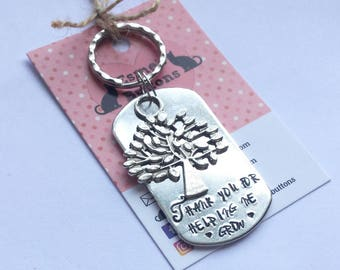 Teacher gift, TA gift, End of year gift, Hand stamped, Thank you gift, Gift for Her, Gift for him,