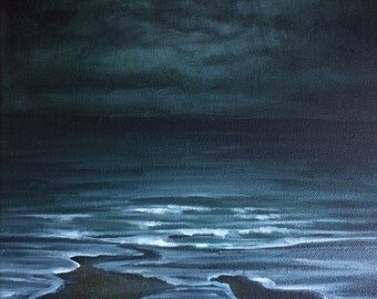Beginning - original oil on canvas seascape painting by Sam Lyle