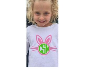 Monogrammed Easter Bunny Shirt