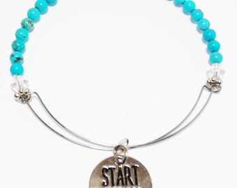 START TODAY - Expandable Bracelet, Affirmation Jewelry, Cause Jewelry, Benefits Homeless Mothers of Atlanta