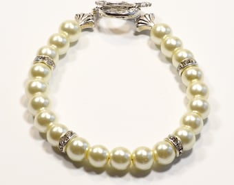 IVORY Women's stackable bracelet, stacking bracelet, statement bracelet, beaded bracelet