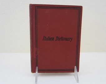 antique Italian dictionary, Routledge's Italian Dictionary, English & Italian languages,  pocket dictionary, late 1800s - early 1900s,
