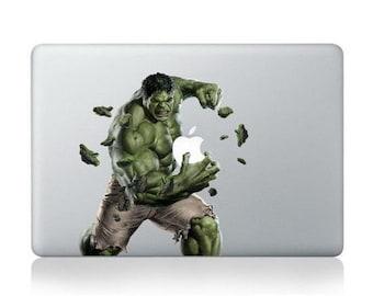 Macbook 13 inch decal sticker Incredible Hulk Macbook Decal Apple art for Apple Laptop