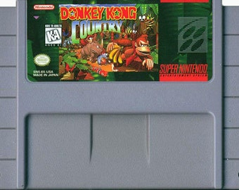 Donkey kong country for Super Nintendo SNES- Game Cartridge only- Cleaned and tested