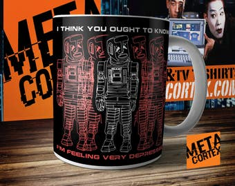 Hitchhikers Guide to the Galaxy - Marvin the Paranoid Android Depressed Mug