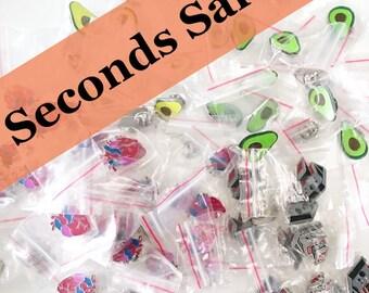 Enamel pin badges - seconds sale