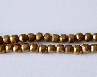 CLEARANCE 6mm Brass Faceted Beads