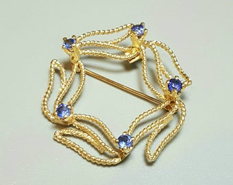 14K Yellow Gold Sapphire Brooch. Free U.S. Shipping. International Charges May Vary.