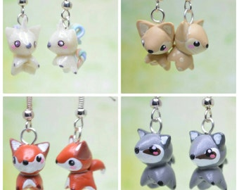 Kawaii Animal Earrings OR Necklaces