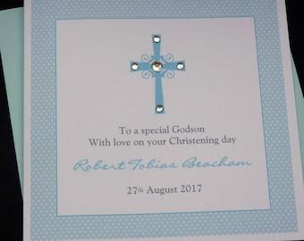 Personalised Christening or Baptism Handmade Card