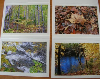 Photo Note Cards Set of 4 Series At the River Handmade PanchosPorch
