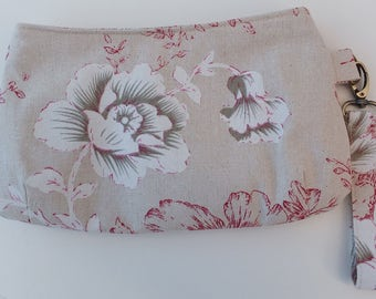 Clutch, Purse, Handmade Wristlet Clutch Bag, Gift for Her, Swoon Coraline