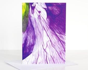 Photo greeting card, Photographic greeting card. Purple Pansy Photographic Greeting Card. Floral Blank card. Floral greeting card.