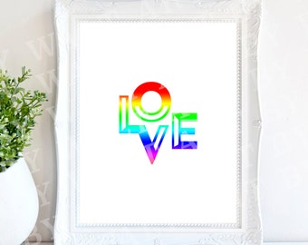 Love 8x10 Digital Print Instant Download Wall Hanging 300 DPI JPEG