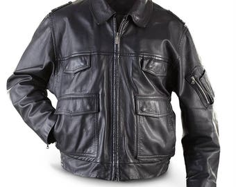 German Military Police Leather Jacket