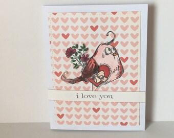 Alexis: Crazy Bird Valentine, Love, Anniversary Card