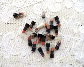 Vintage AVON Lipstick Tester Bullets-Lip Stick Samples-Tubes-Promotional-Beauty-Makeup-Sales-19 Total-Cosmetics-Orphaned Treasure-030817A