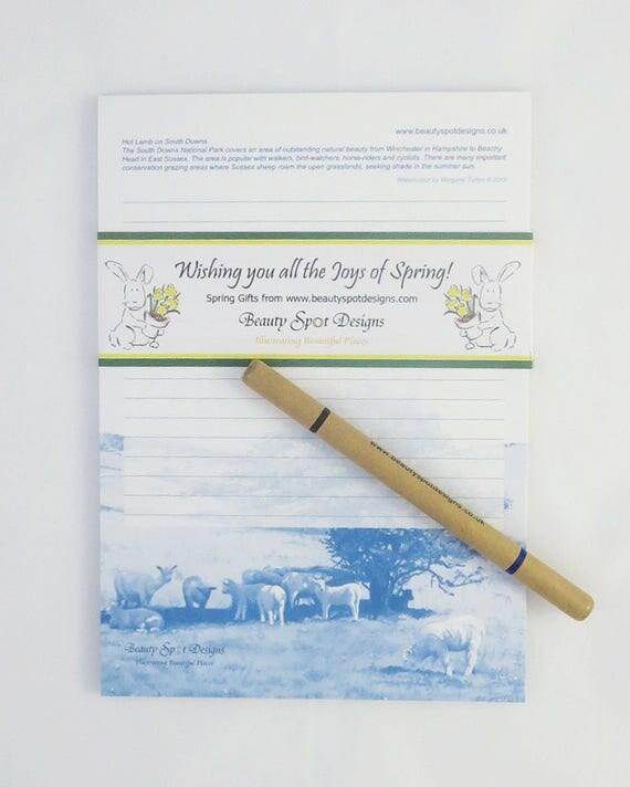 Sussex Lamb Message Pad A5 + pencil